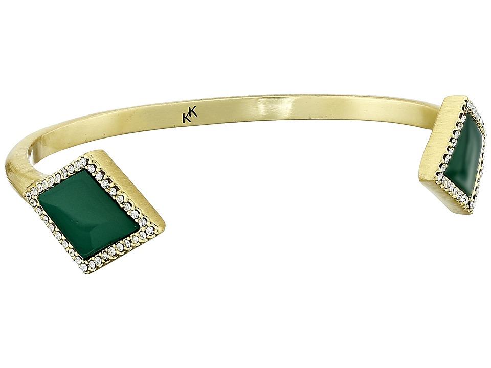 Karen Kane - Diamante Cuff Bracelet (Green) Bracelet