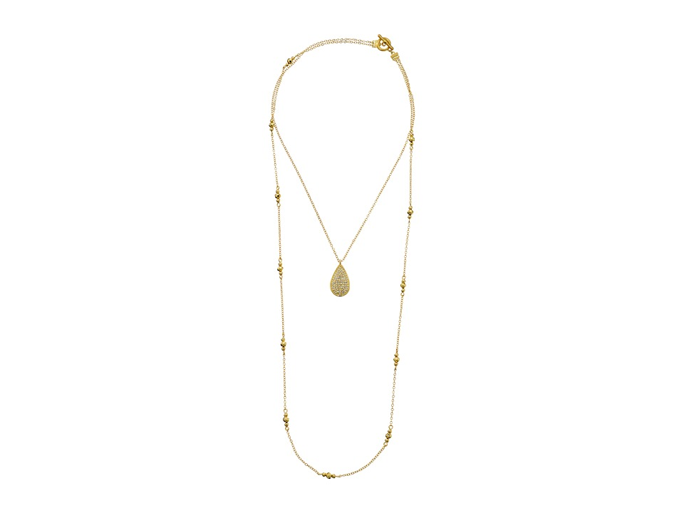 Karen Kane - Glitzy Glacier Layered Pendant Necklace (Gold) Necklace