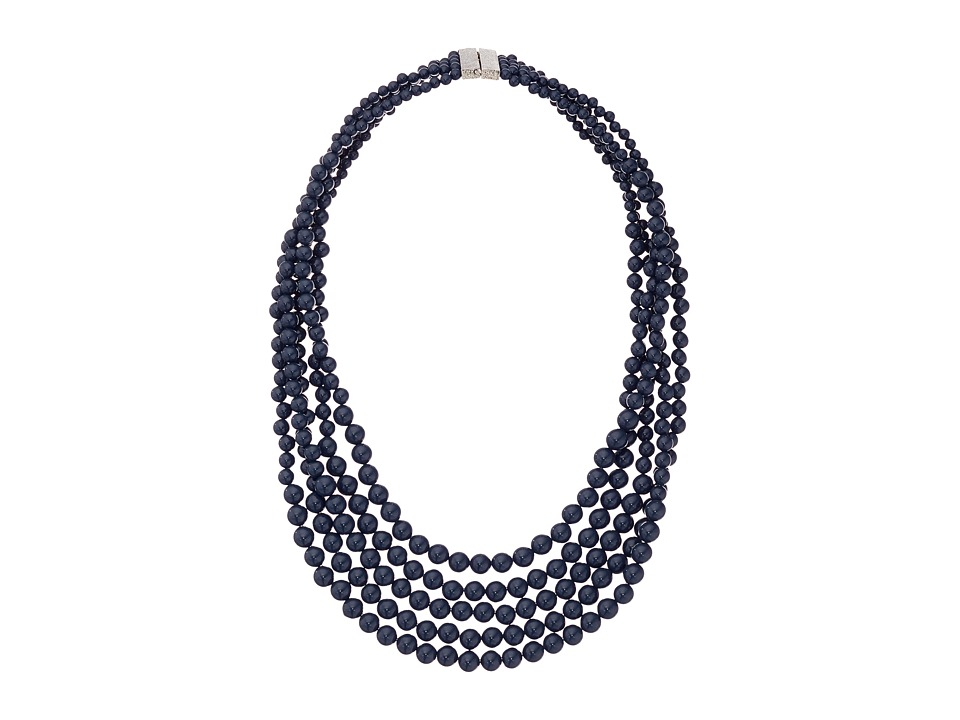 Karen Kane - Palm Park Beaded Statement Necklace (Blue) Necklace
