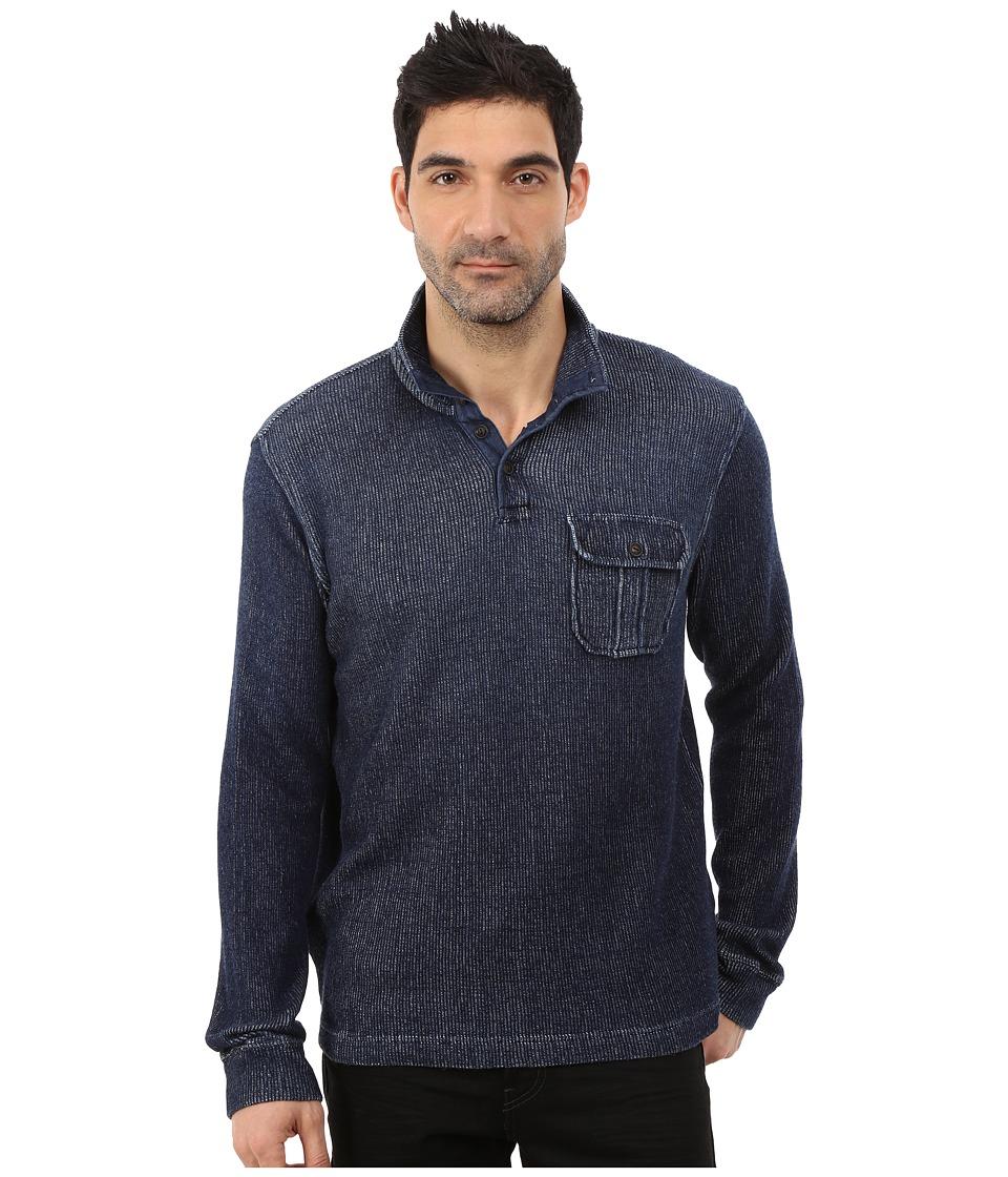 Lucky Brand - Workwear Mock Neck (Indigo) Men's Clothing