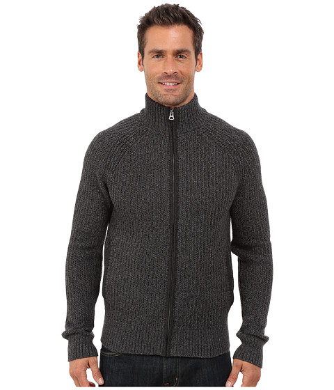Lucky Brand - Glacier Peak Zip Cardigan (Slate Black) Men's Sweater
