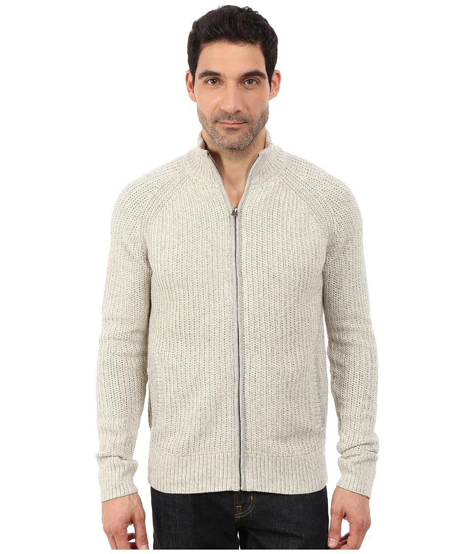 Lucky Brand - Glacier Peak Zip Cardigan (Light Heather Grey) Men's Sweater