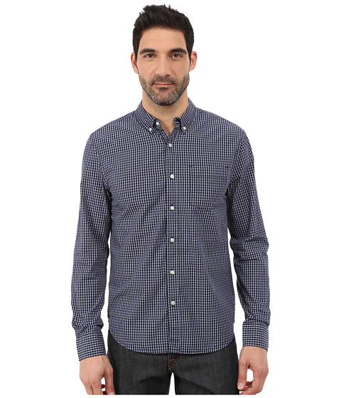 Lucky Brand - Bay Indigo Shirt (Indigo/Natural) Men's Clothing