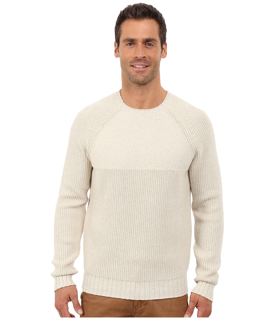 Lucky Brand - Deer Lake Crew Neck Sweater (Light Oat Heather) Men's Sweater