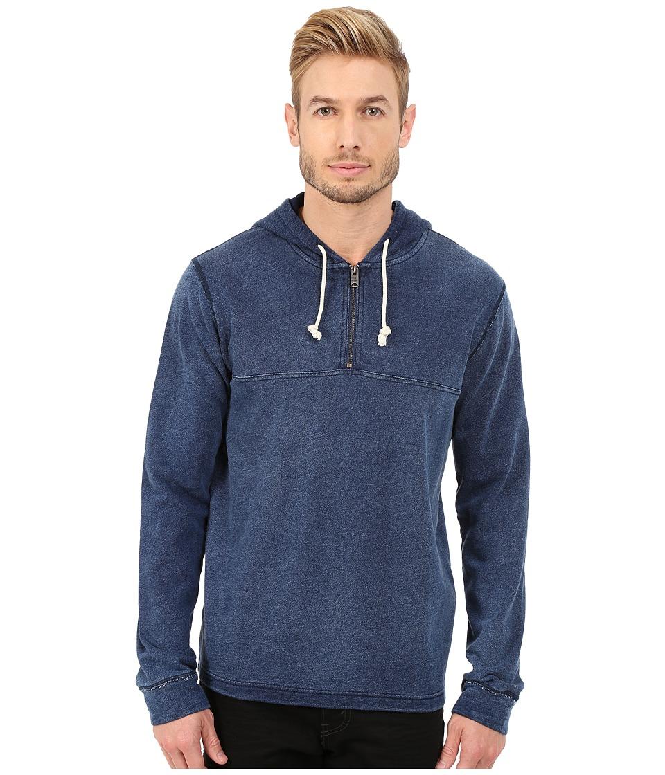 Lucky Brand - 1/2 Zip Hoodie (Indigo) Men's Sweatshirt