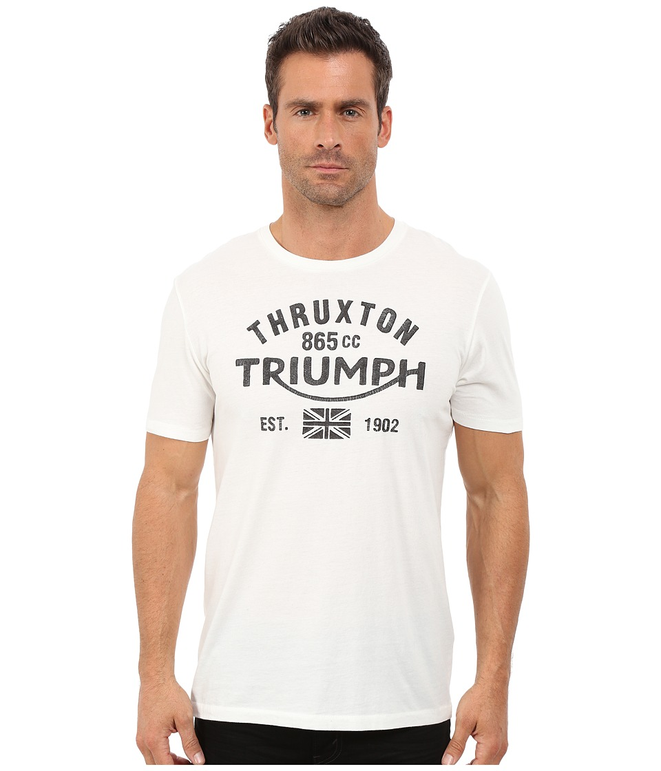 Lucky Brand - Triumph Graphic Tee (Marshmallow) Men