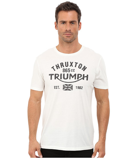 Lucky Brand - Triumph Graphic Tee (Marshmallow) Men's T Shirt