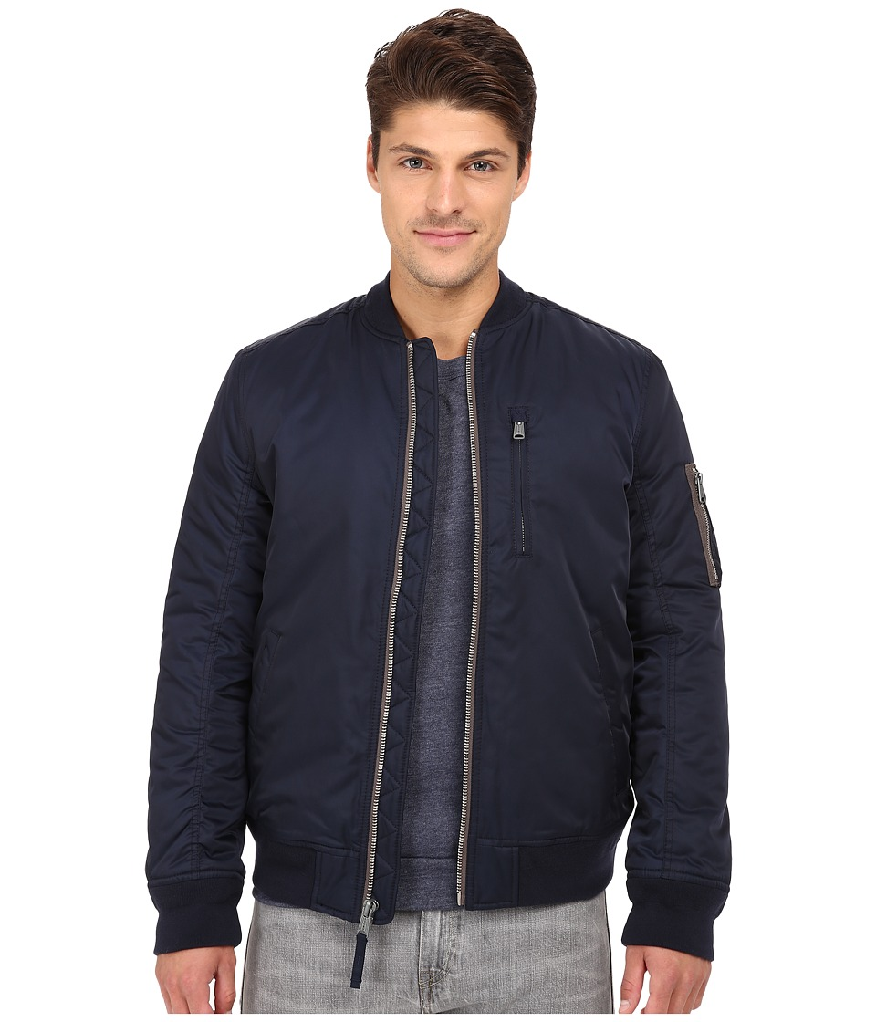 Lucky Brand - Nylon Bomber Jacket (Savile Row Navy) Men