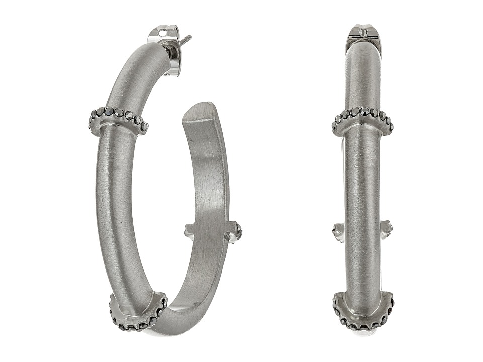Karen Kane - Wonderland Hoop Earrings (Silver) Earring