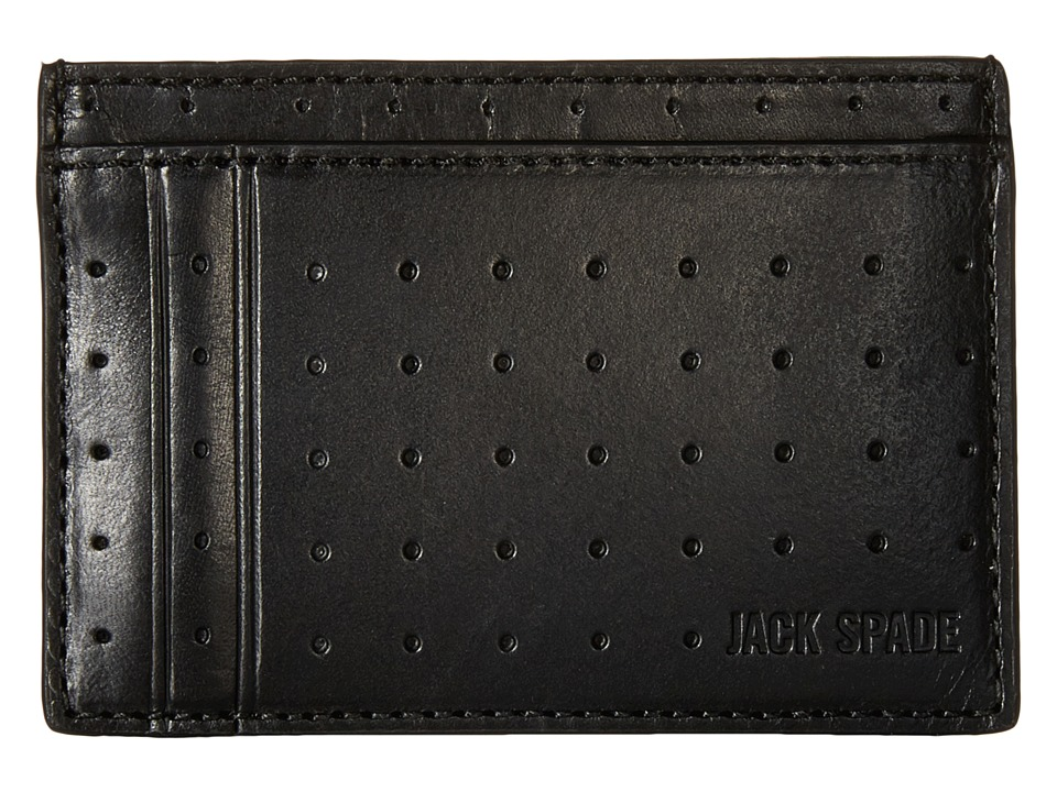 Jack Spade - 610 Leather ID Wallet (Black) Wallet Handbags