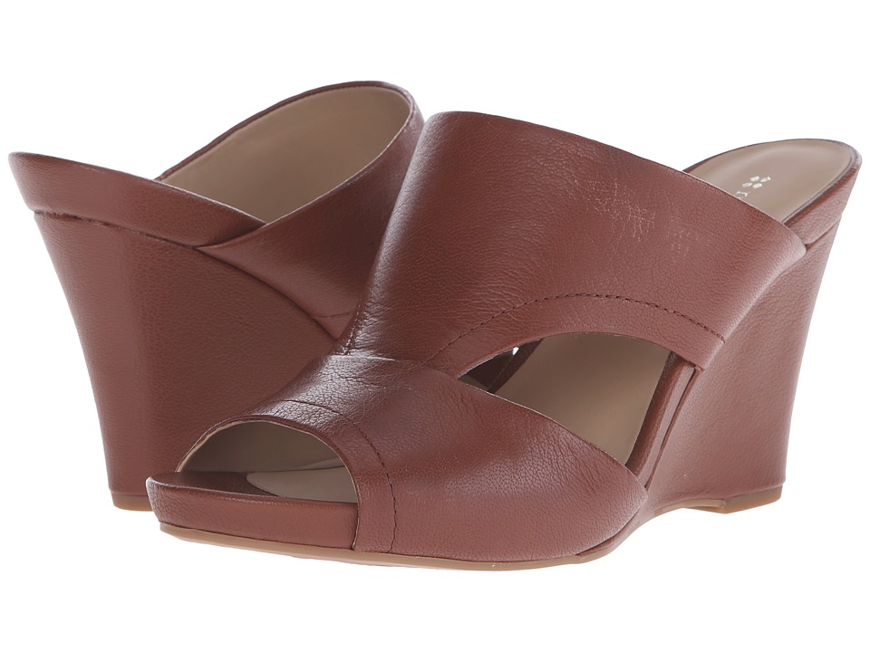 Naturalizer - Bankston (Cognac Leather) Women's Wedge Shoes