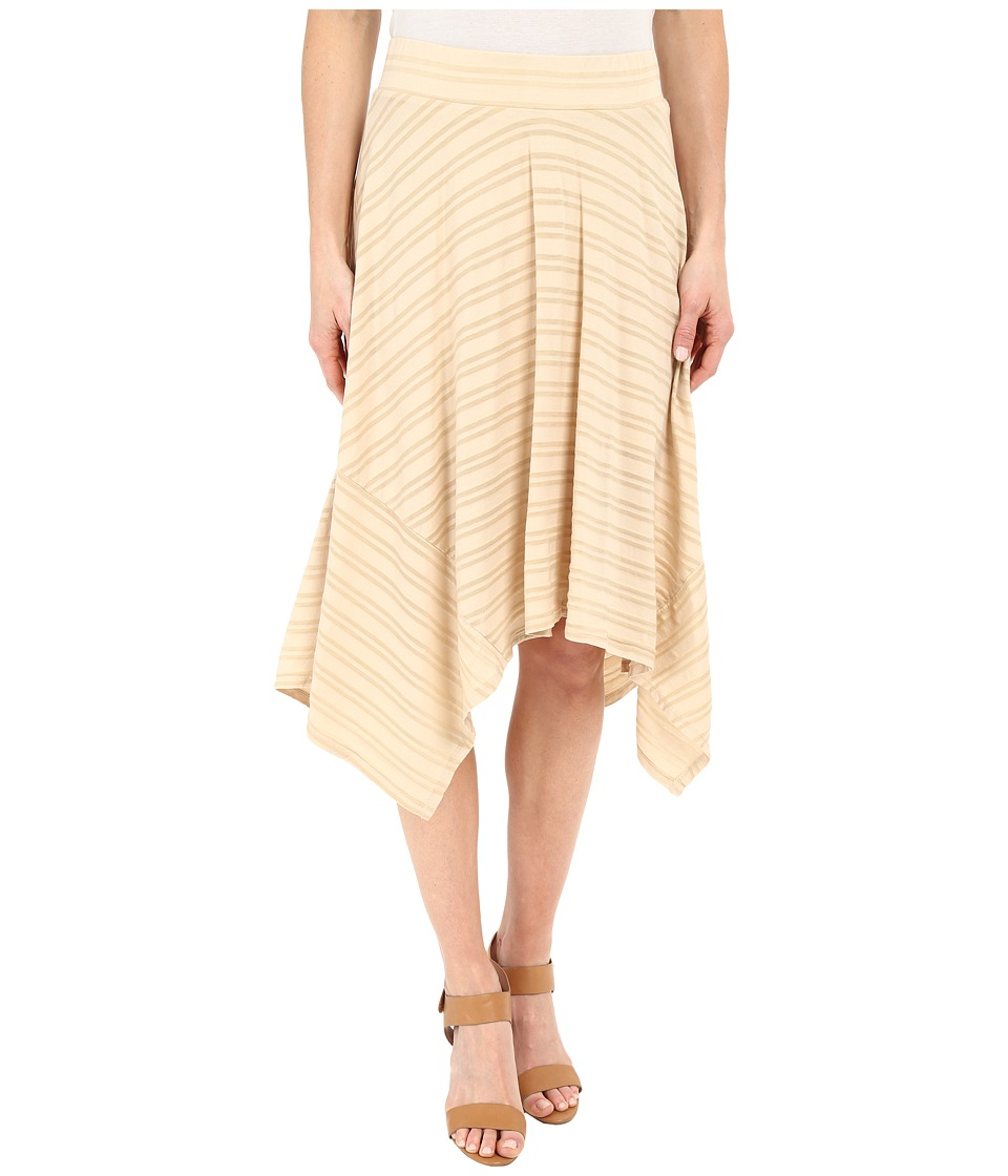 Mod-o-doc - Tonal Tencel Stripe Handkerchief Stripe Skirt (Beach Grass) Women's Skirt