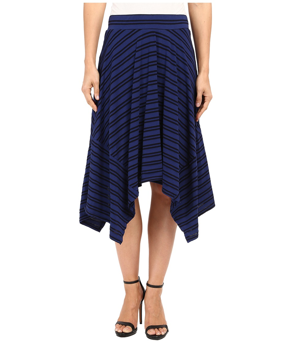 Mod-o-doc - Tonal Tencel Stripe Handkerchief Stripe Skirt (Inkwell) Women's Skirt