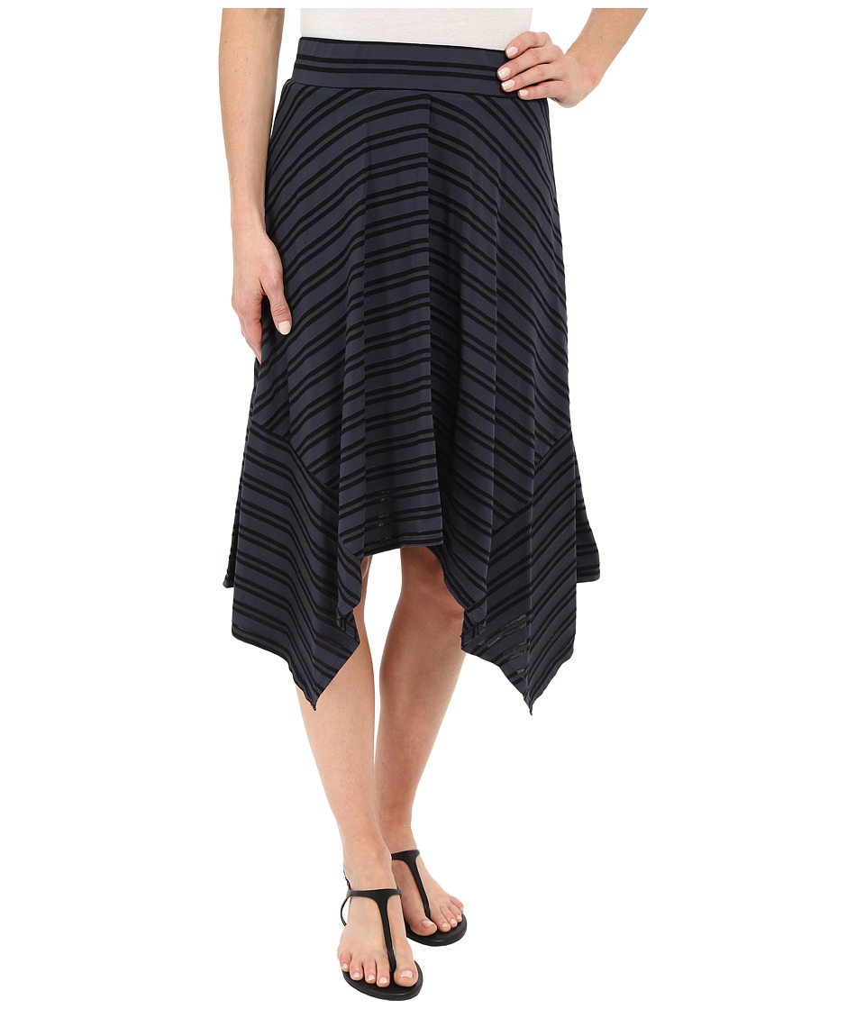 Mod-o-doc - Tonal Tencel Stripe Handkerchief Stripe Skirt (Gibraltar) Women's Skirt