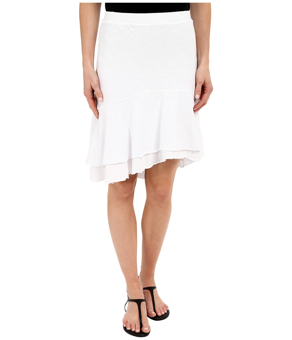 Mod-o-doc - Slub Jersey Double Tiered High-Low Skirt (White) Women's Skirt
