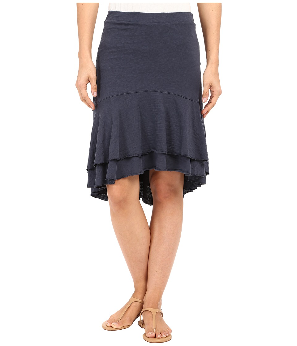 Mod-o-doc - Slub Jersey Double Tiered High-Low Skirt (Gibraltar) Women's Skirt