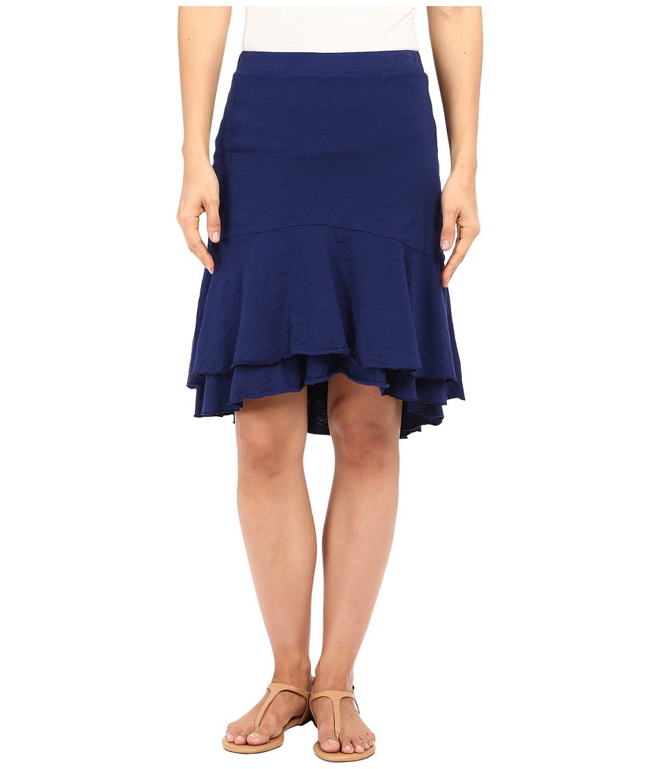 Mod-o-doc - Slub Jersey Double Tiered High-Low Skirt (Inkwell) Women's Skirt