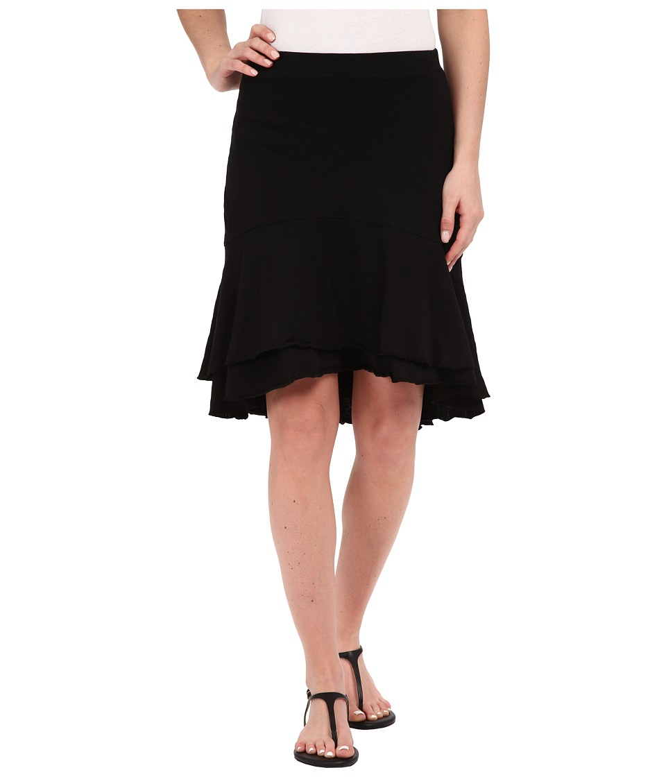Mod-o-doc - Slub Jersey Double Tiered High-Low Skirt (Black) Women