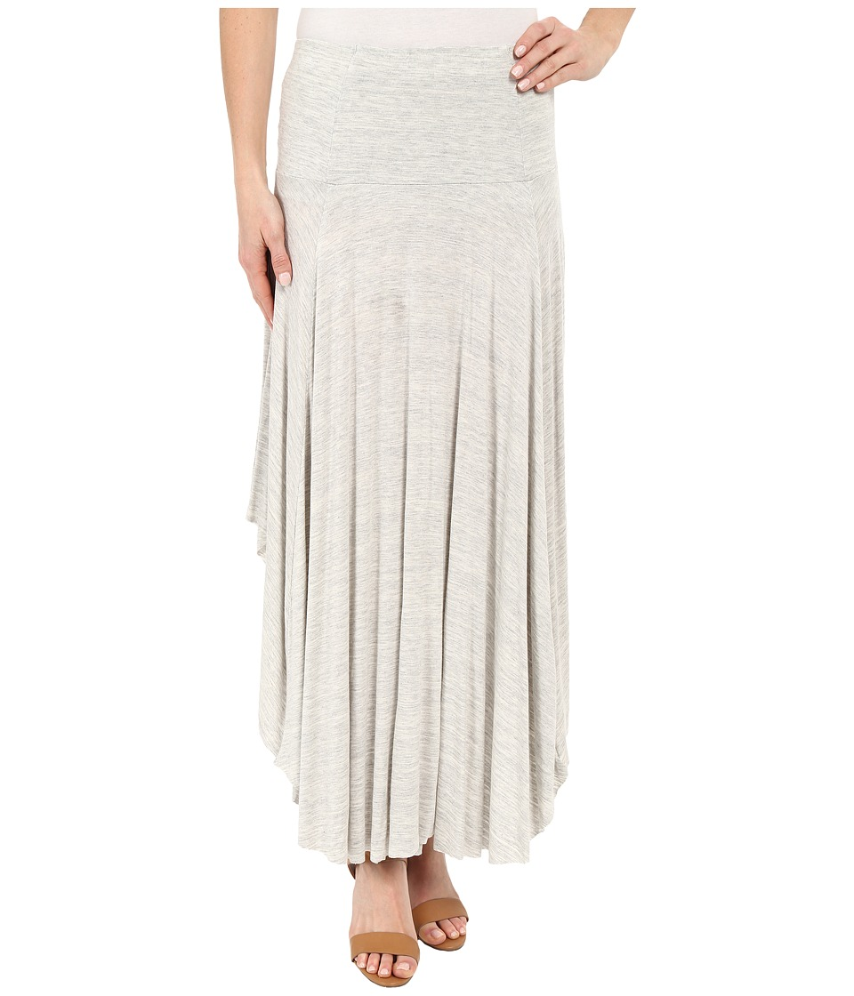 Mod-o-doc Space Dyed Rayon Spandex Jersey Round Midi Skirt (Mist Heather) Women