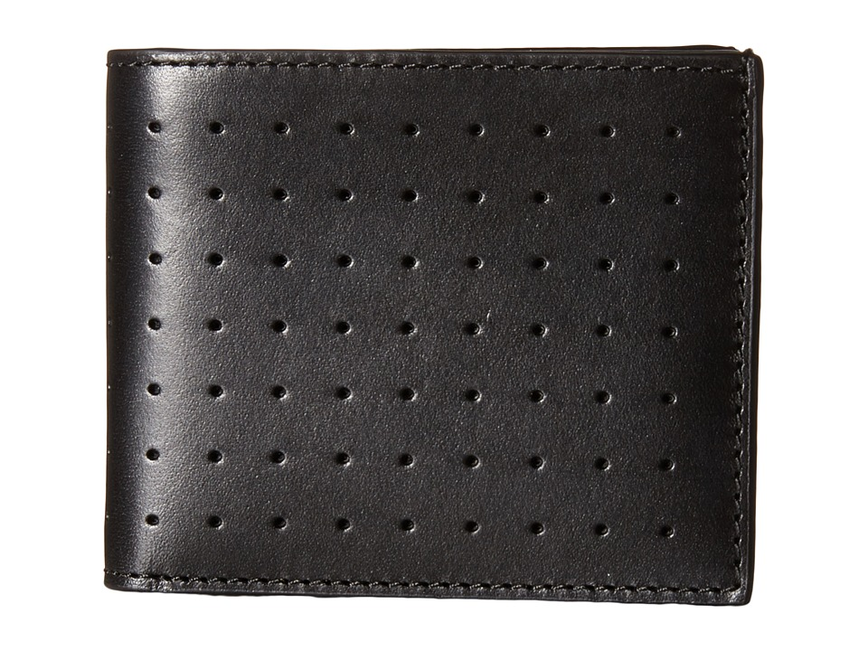 Jack Spade - 610 Leather Slim Billfold (Black) Bill-fold Wallet