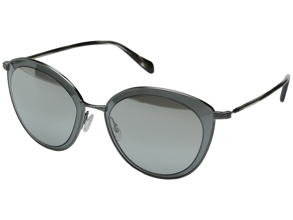 Oliver Peoples - Gwynne (Pewter/Graphite/Silver Flash Gradient Mirror) Fashion Sunglasses