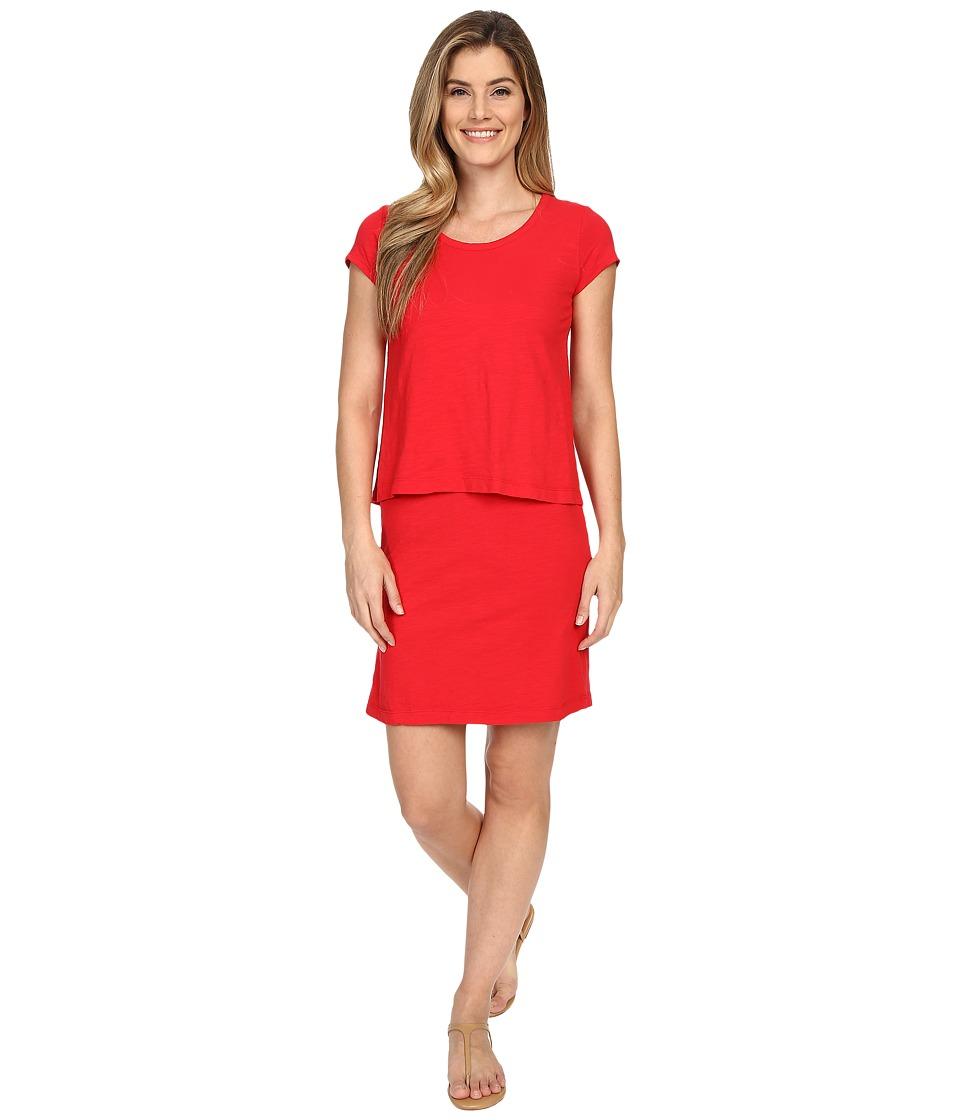 Mod-o-doc - Slub Jersey Double Layer T-Shirt Dress (Zinnia) Women's Dress