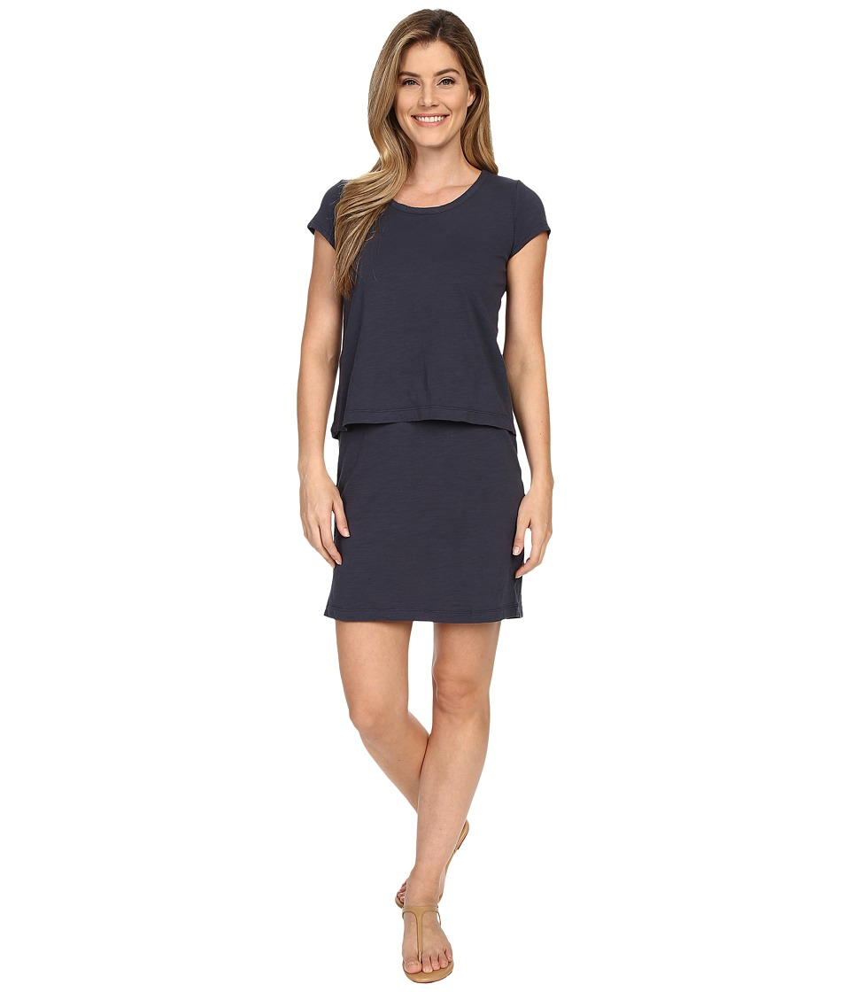 Mod-o-doc - Slub Jersey Double Layer T-Shirt Dress (Gibraltar) Women's Dress