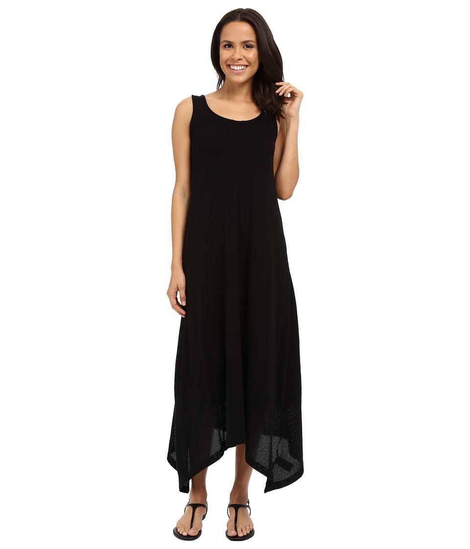 Mod-o-doc Cotton Mesh Tank Maxi Dress (Black) Women