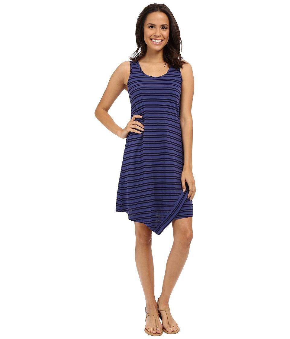 Mod-o-doc Tonal Tencel Stripe Tank Dress (Dark Iris) Women