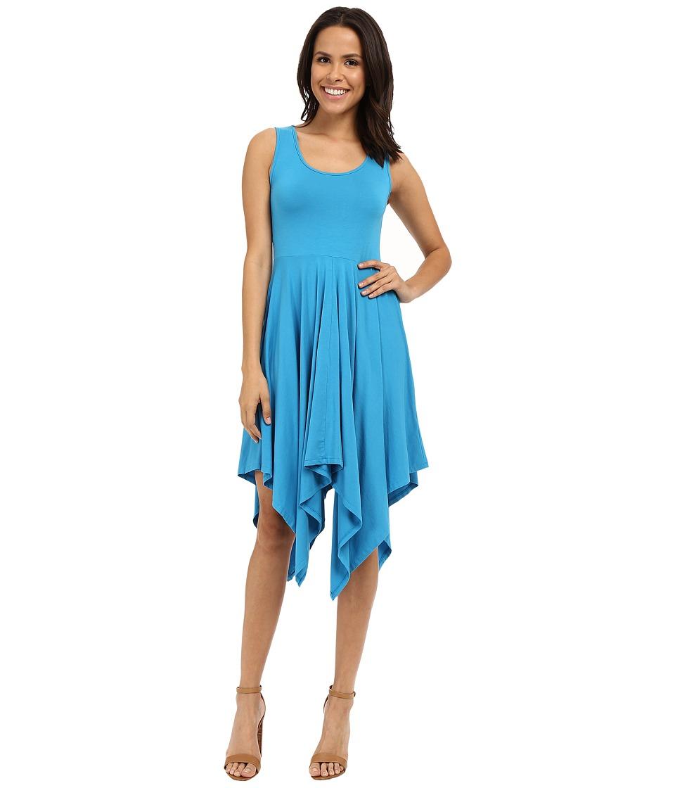 Mod-o-doc Cotton Modal Spandex Jersey Hanky Hem Tank Dress (Hypnotic) Women