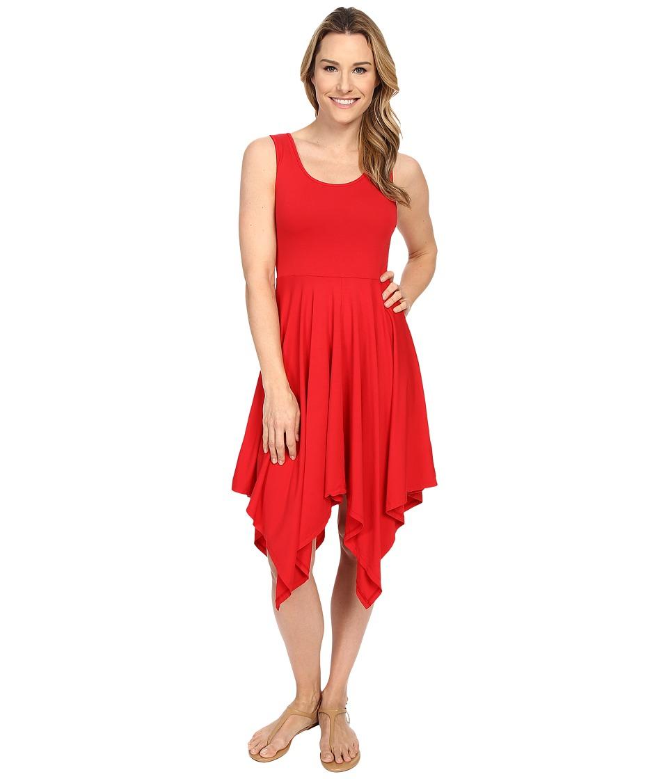 Mod-o-doc Cotton Modal Spandex Jersey Hanky Hem Tank Dress (Zinnia) Women