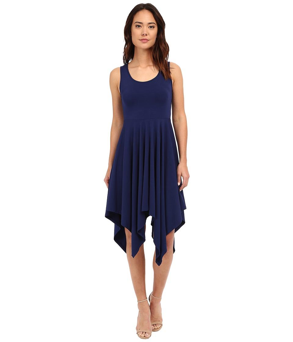 Mod-o-doc Cotton Modal Spandex Jersey Hanky Hem Tank Dress (Inkwell) Women