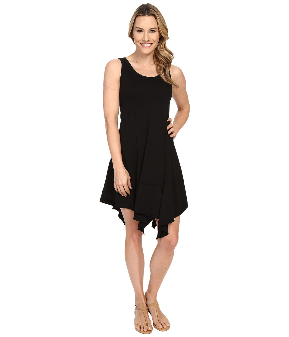 Mod-o-doc - Slub Jersey Hanky Hem Tank Dress (Black) Women's Dress
