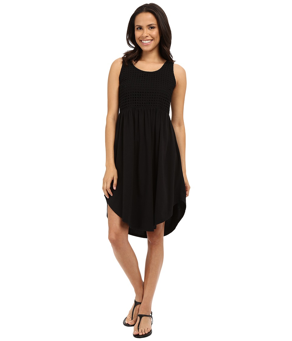 Mod-o-doc - Supreme Jersey Eyelet Panel Tank Dress (Black) Women's Dress