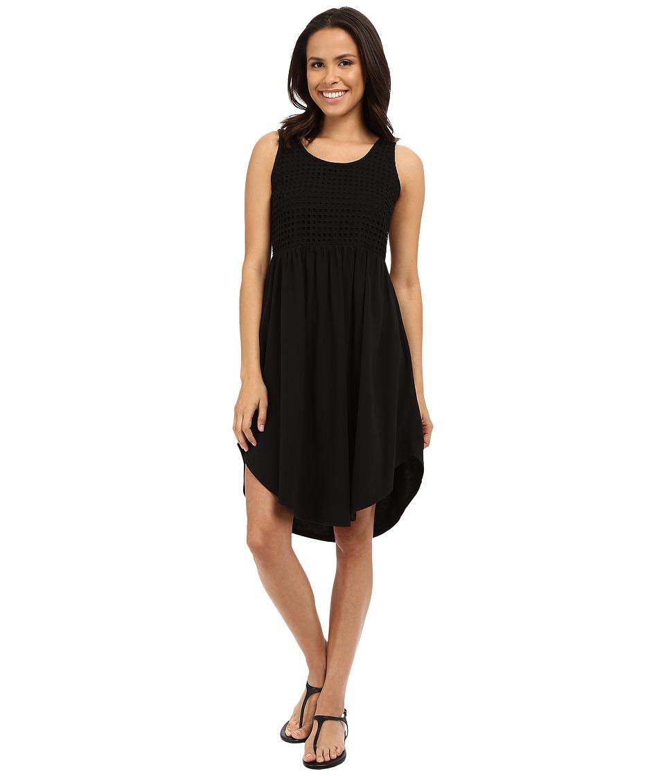 Mod-o-doc - Supreme Jersey Eyelet Panel Tank Dress (Black) Women's Dress