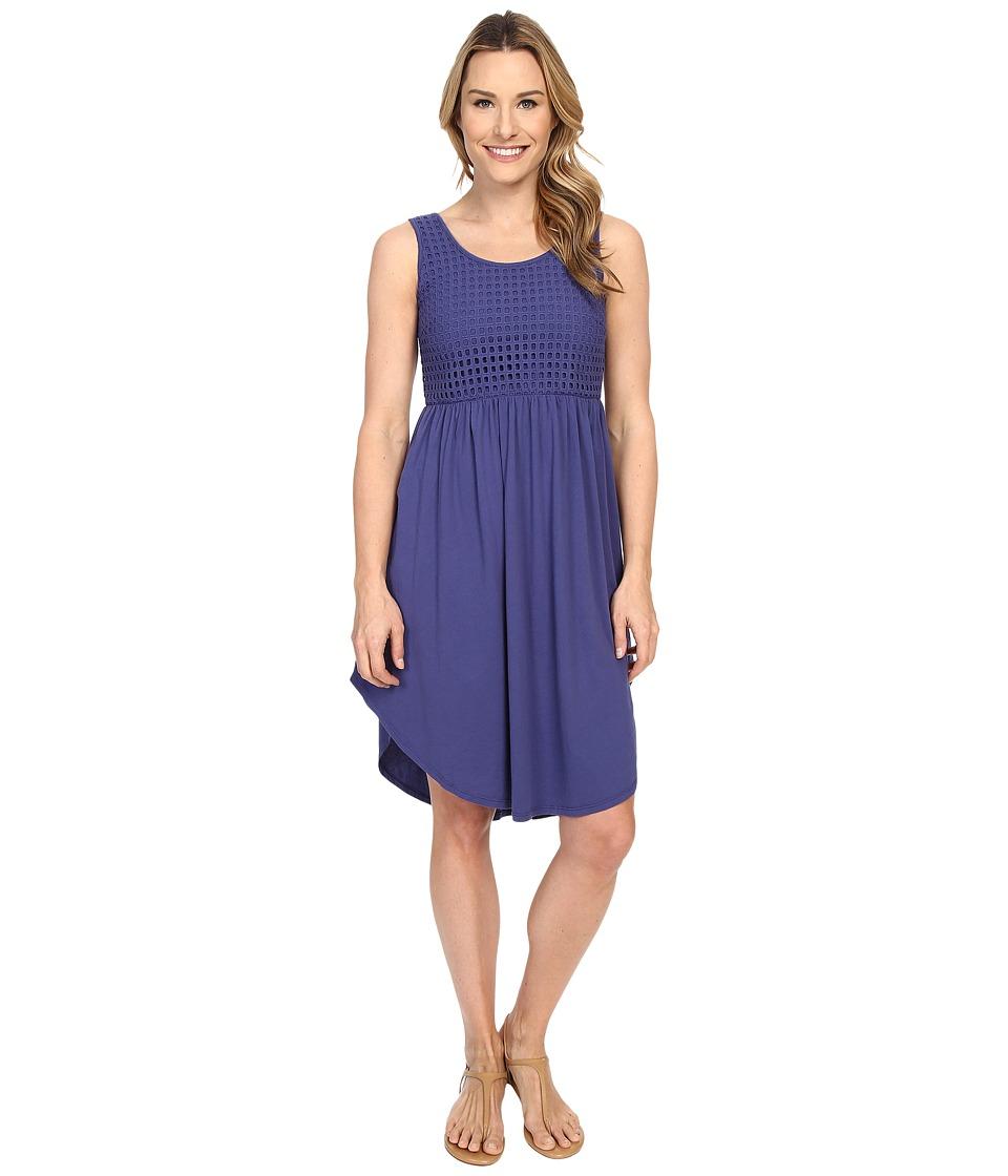 Mod-o-doc - Supreme Jersey Eyelet Panel Tank Dress (Dark Iris) Women's Dress