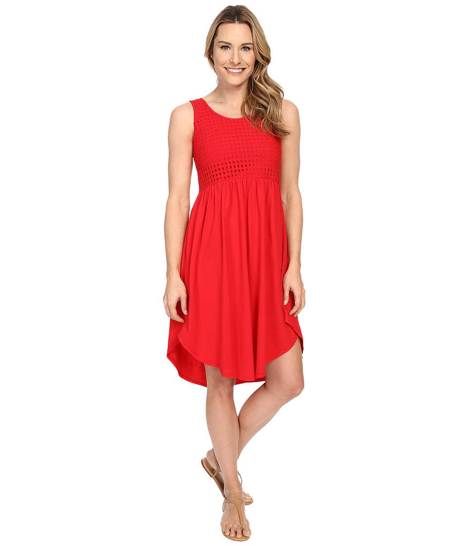 Mod-o-doc - Supreme Jersey Eyelet Panel Tank Dress (Zinnia) Women's Dress