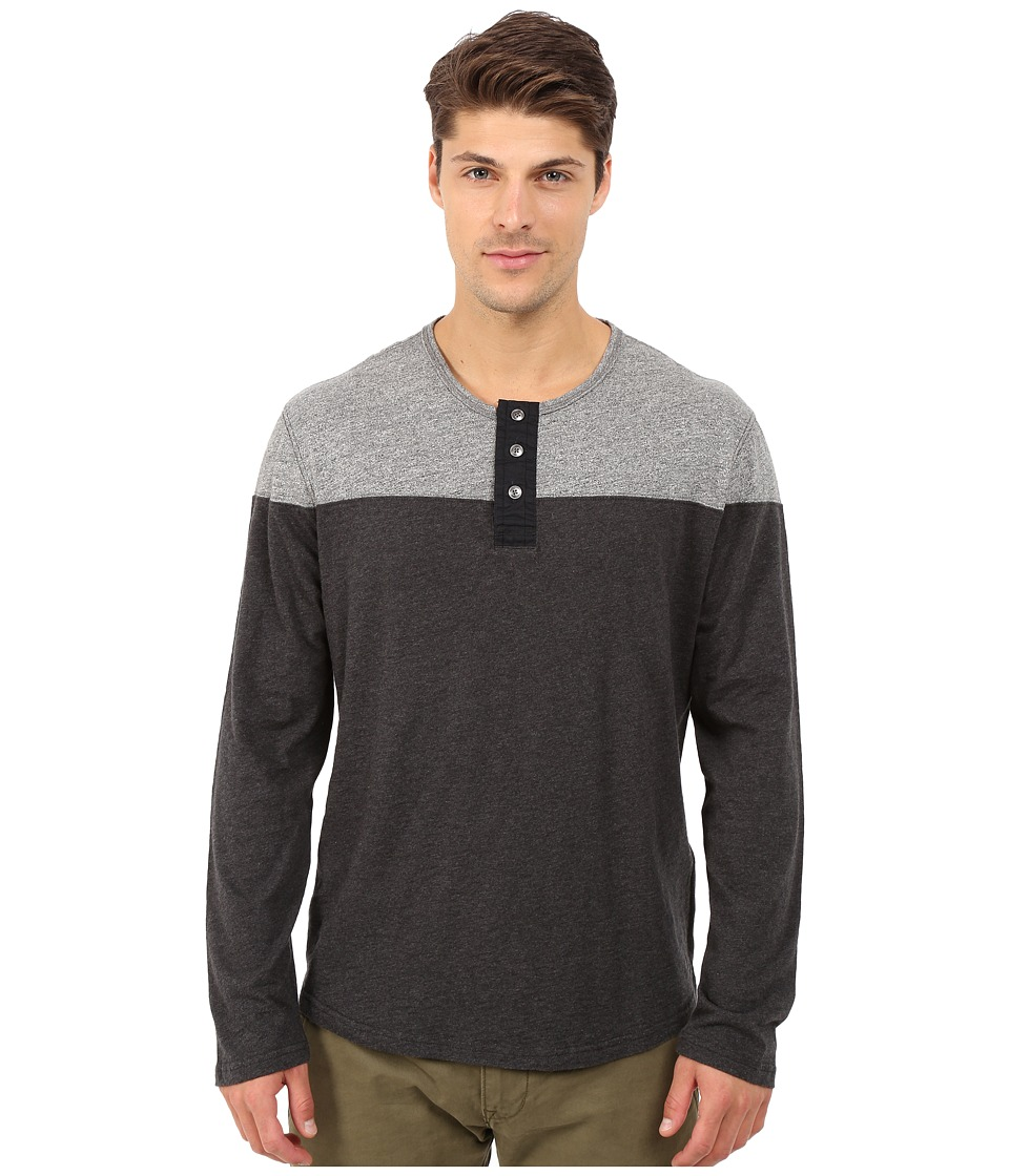 Lucky Brand Color Block Henley (Black Multi) Men