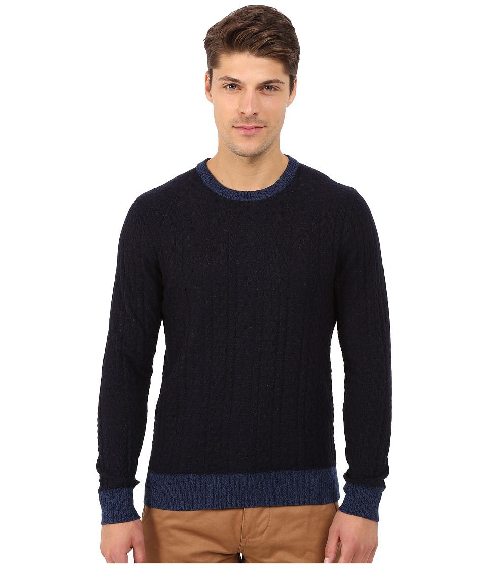 Lucky Brand - Holiday Indigo Crew (Indigo) Men's Sweater