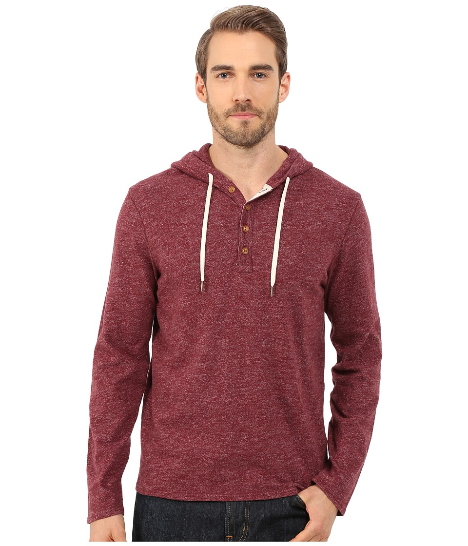Lucky Brand - Sueded Jersey Hoodley (Red) Men's Sweatshirt