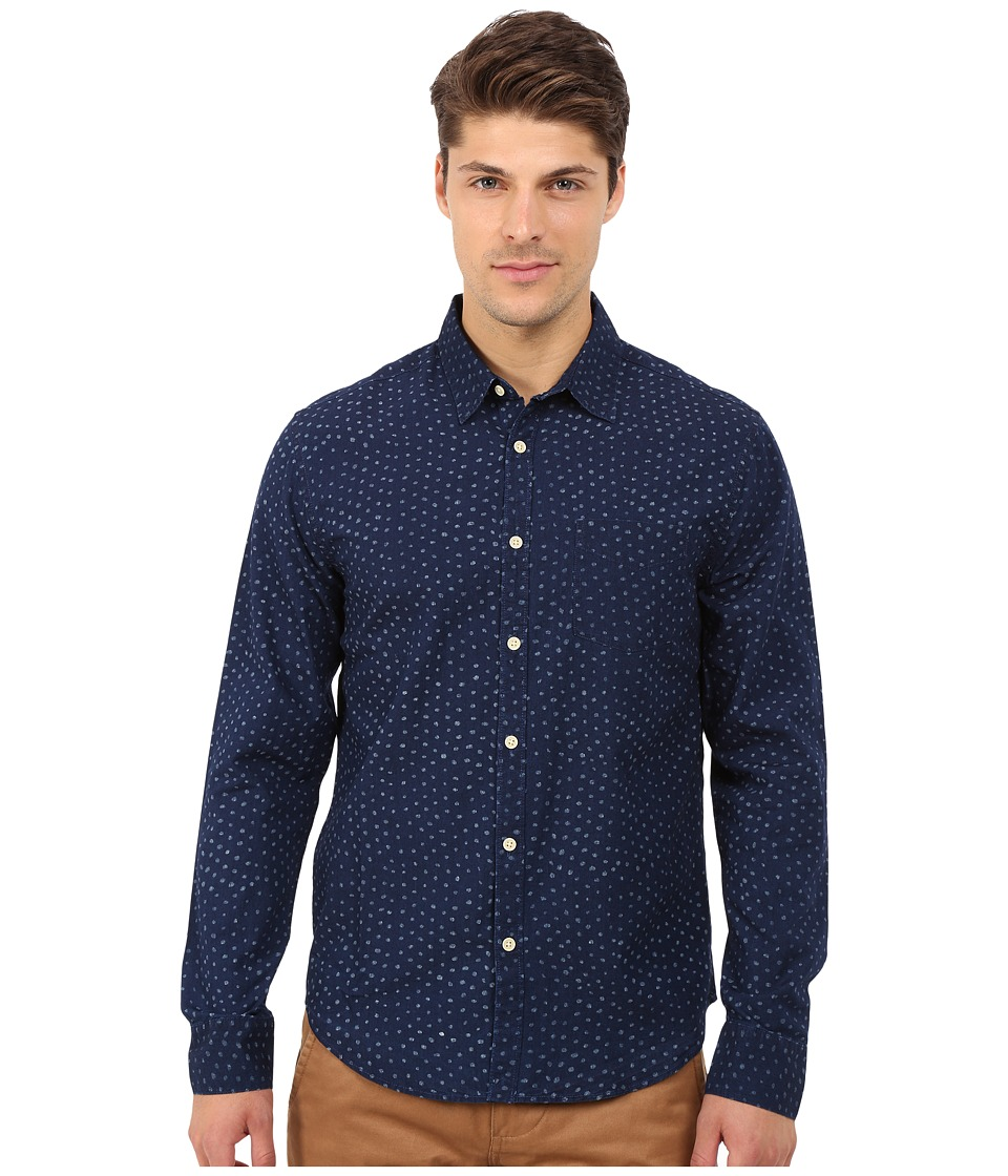 Lucky Brand - Dot Printed Shirt (Indigo/Natural) Men's Clothing