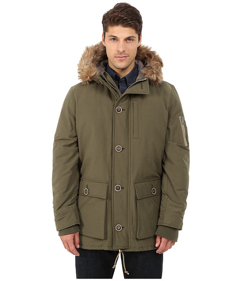 Lucky Brand - Holiday Snorkel Parka (Dark Olive) Men's Coat