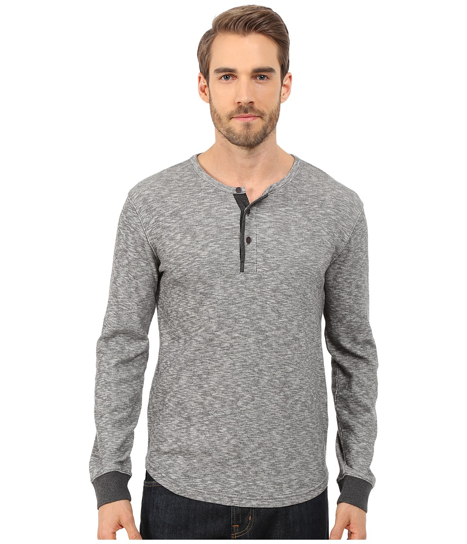 Lucky Brand - Twisted Slub Henley (Heather Grey) Men