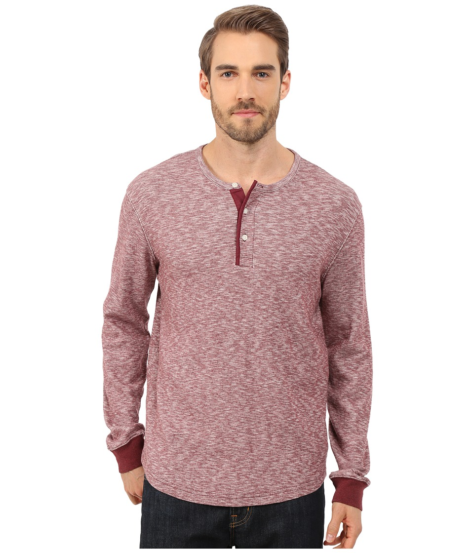 Lucky Brand - Twisted Slub Henley (Red) Men's T Shirt