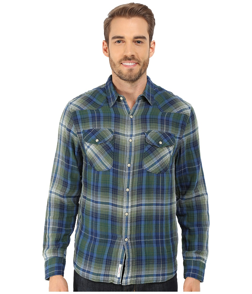 Lucky Brand - Muir Western Shirt (Blue/Green) Men's Long Sleeve Button Up