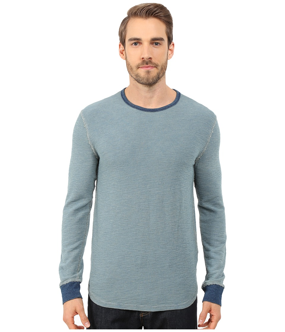 Lucky Brand - Thermal Crew (Indigo) Men's T Shirt