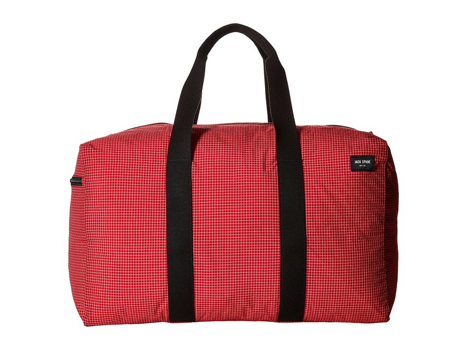 Jack Spade - Packable Graph Check Duffel Bag (Red) Duffel Bags