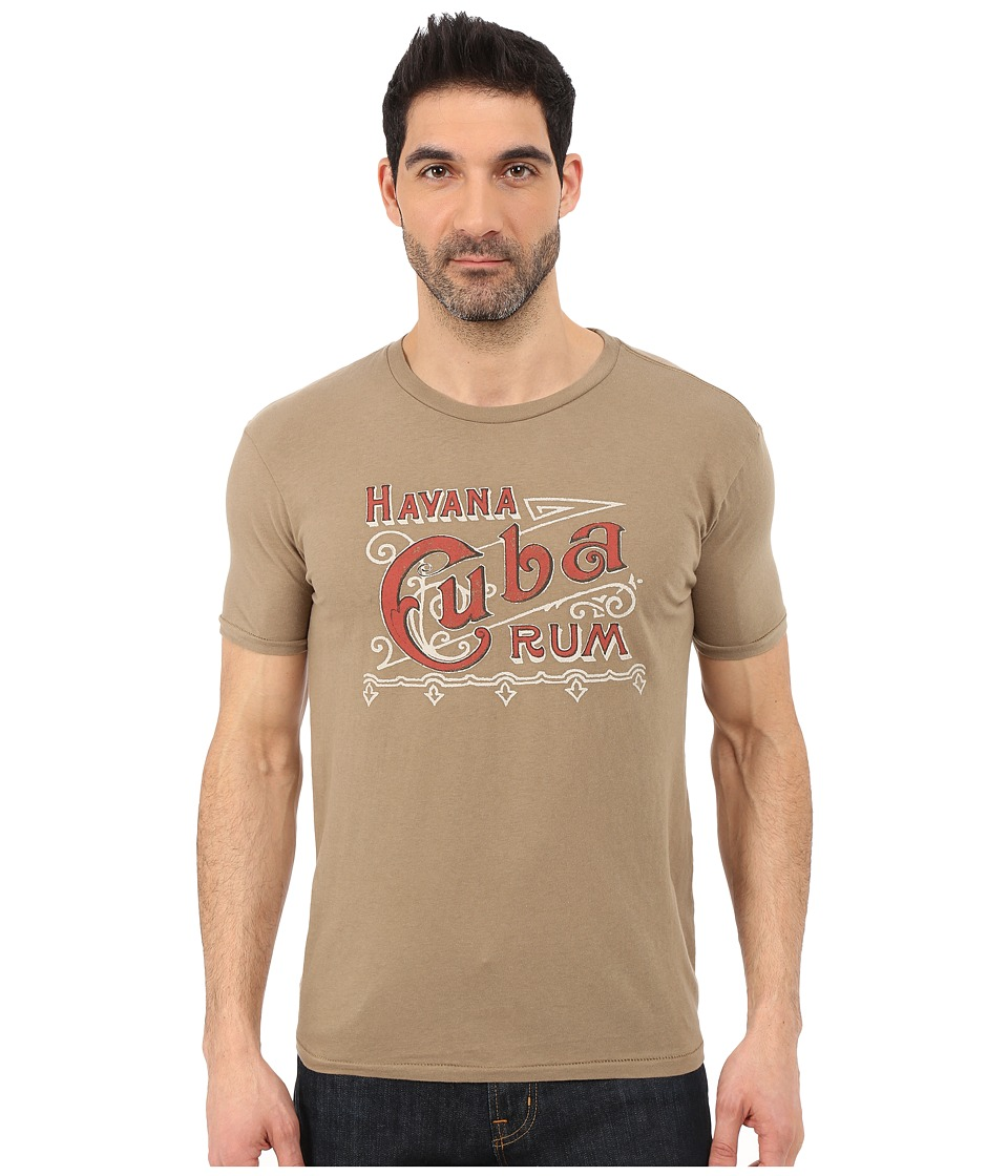 Lucky Brand - Cuba Rum Graphic Tee (Khaki) Men's T Shirt