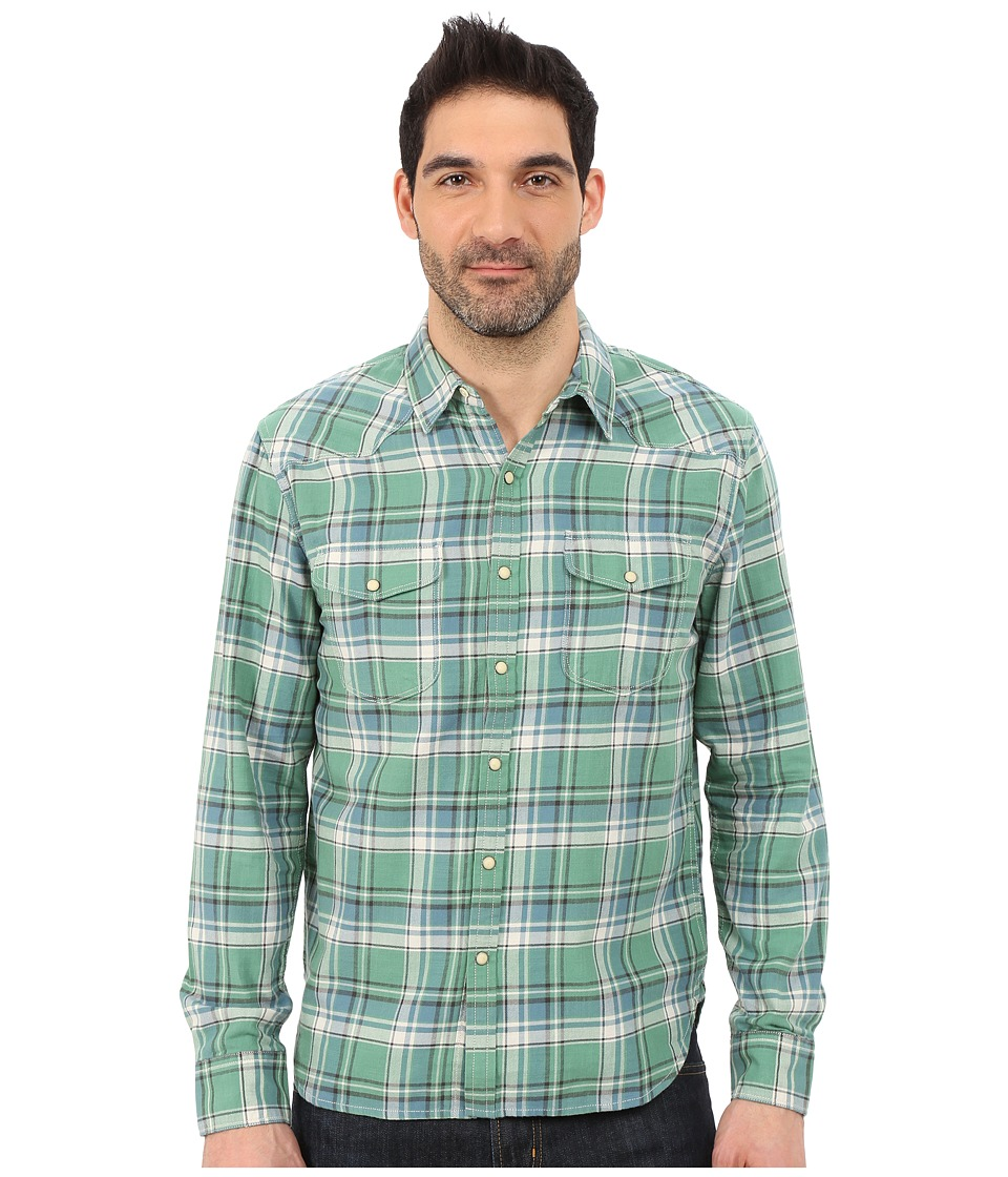 Lucky Brand - Rimpau Western Shirt (Dusty Green Plaid) Men's Long Sleeve Button Up