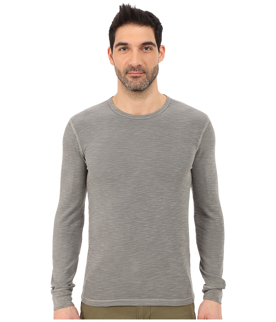 Lucky Brand - Long Sleeve Waffle Crew (Brushed Nickel) Men's Sweater